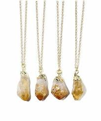 citrine quartz crystal druzy necklace