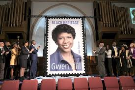 Influential journalist Gwen Ifill honored with USPS stamp
