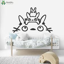 Totoro Wall Decal Removable Wallpaper Kid Nursery Vinyl Wall Stickers For Kids Rooms Cartoon Animal Bedroom Baby Decor Diy Cheap Wall Clings Cheap Wall Decal From Onlinegame 11 31 Dhgate Com