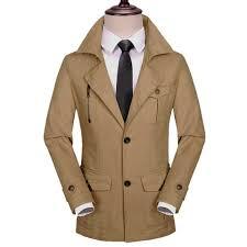 Satın Al 100% Pamuk Erkekler Ceket Fermuar Cepler Haki Yeşil Siyah Uzun  Sokak Giyim İlkbahar Sonbahar Kış Erkek Ince Dış Giyim Adam Siper, $72.13 |  DHgate.Com'da