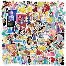 100pcs Disney Princess Stickers Do Not Repeat Personality Car Motorcycle Pull Bar Box Cartoon Graffiti Stickers Waterproof Stickers Aliexpress