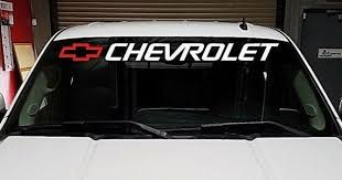 Chevrolet Bow Window Decal Vinyl Letters Bed Sign For Sale Online Ebay