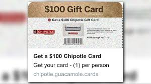 are these 100 chipotle gift card