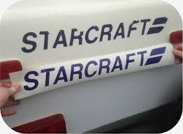 Decal For Starcraft Pop Up Tent Camper Travel Trailer Sticker Blue Logo 8 10 12 Ebay