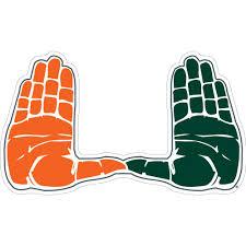 Miami Hurricanes U Hands Decal Caneswear At Miami Fanwear
