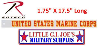 Usmc United States Marine Corps Window Decal Back Gum 1 75 X 17 5 Long 1212 For Sale Online
