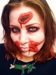 latex zombie makeup a cut gash