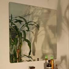 decorative square frameless wall mirror