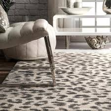 nuloom leopard print gray 8 ft x 11 ft