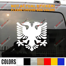 Flag Of Albania Double Headed Eagle Car Decal Sticker Vinyl Truck Boat Pick Color And Size Sticker Vinyl Sticker Flagvinyl Stickers Aliexpress