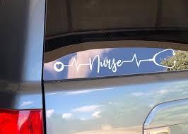 Nurse Decal Car Decal Vinyl Decal Car Accessories Car Etsy Car Decals Vinyl Car Decals Nurse Decals