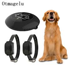 Pet Dog Wireless Electric Fence Containment System Wireless Signal Transmitter Dog Training Collar With Vibrating Electric Shock Training Collars Aliexpress