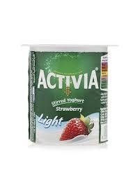 activia light strawberry light 120g