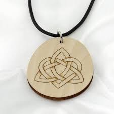 pyrography celtic knot pendant