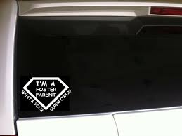 Foster Parent Superpower Car Decal Vinyl Sticker 6 C4 Adoption Moms Family For Sale Online
