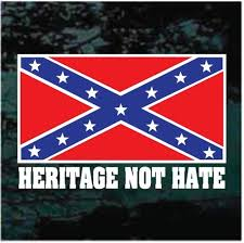 Confederate Flag Heritage Not Hate Car Window Decals Decal Junky