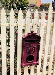 Aa Royal Park Picket Heritage Letterbox Federation Victorian Design Incl Lock And Key Chatterton Lacework