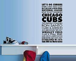 Amazon Com Cub S Subway Art Words Wall Or Window Decal 13 X 25 Everything Else