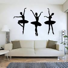 3pcs Ballerina Ballet Dancers Girls Silhouette Vinyl Wall Decal Dance Room Decor Stickers For Girls Room Bedroom Decoration Wish