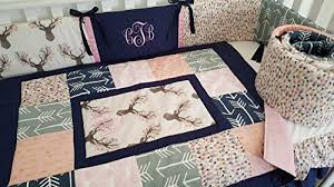 baby girl nursery crib bedding quilt