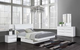 Aurora White Queen Size Bed aurora Global Furniture USA Modern ...