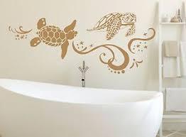 Turtle Wall Decal Tortoise Tortoiseshell Ocean Sea Decals Bathroom Decor Nv218 Ebay