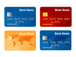 Set of credit or debit card template. online payment. cash ...