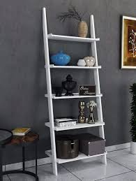 leaning bookcase ladder and