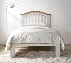 leeswood hardwood grey oak bed frame