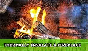 thermally insulate a fireplace