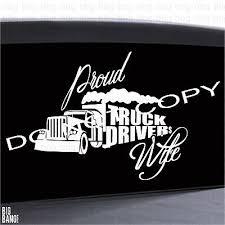 Proud Truckers Wife Die Cut Decal Sticker Window Car Truck High Quality Letters Ebay