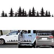 Amazon Com Greceyou Pine Tree Forest Sticker For Car Vinyl Decal Window Mountains Coast Graphic Sticker For Auto Door Window Bumper Decor Kitchen Dining