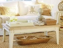 beach themed coffee table decor for