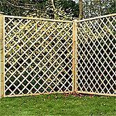 6ft Pressure Treated Diamond Trellis Fencing Panels 1 Panel Only 6 Fast Delivery Pick A Day Fence Panels Trellis Fence Fence Panels Diy Backyard F
