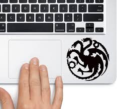 Amazon Com House Of Targaryen Game Of Thrones Trackpad Apple Macbook Laptop Vinyl Sticker Decal Computers Accessories
