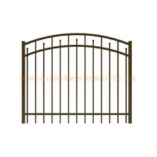China 2020 Pre Welded Black Aluminum Decorative Metal Fence Gate China Door Aluminum Gate