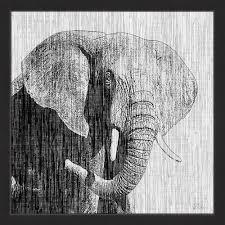 strength of an elephant framed wall art