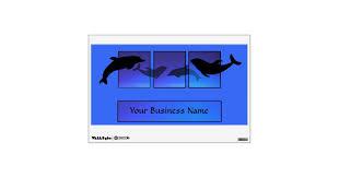 Dolphin Dolphins Ocean Wall Decal Zazzle Com