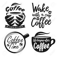 hand drawn typography coffee posters set greeting cards or print