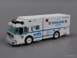 Lego Moc Nypd Bomb Squad By Brickdesigners Rebrickable Build With Lego