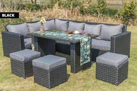 9 seater rattan dining set wowcher