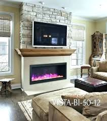 tv above fireplace ideas above electric