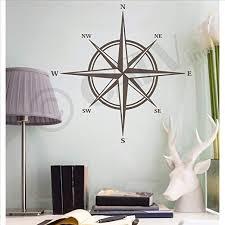 Amazon Com Compass Vinyl Wall Decal Sticker Metallic Bronze 16 H X 16 W Home Kitchen