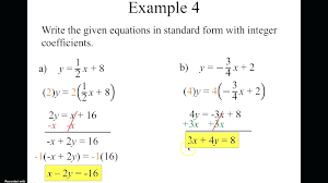 standard form equation with two points