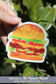 Hamburger Sticker Vinyl Sticker Laptop Sticker Waterbottle Etsy Vinyl Stickers Laptop Iphone Stickers Vinyl Sticker