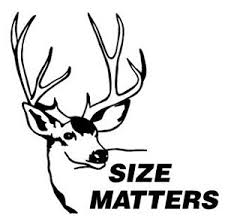 Size Matters Deer Decal Sticker