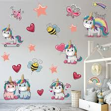 Hot Selling New Fashion Cute Unicorn Kids Room Wall Stickers Kindergarten Decoration Diy Children Room Home Decor Nursery Room Wall Decals Nursery Stickers From Kity12 2 52 Dhgate Com