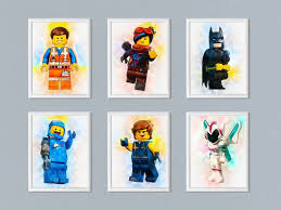 Set Of 6 The Lego Movie 2 Print Digital Download Printable Etsy In 2020 Kid Room Decor Lego Room Lego Poster