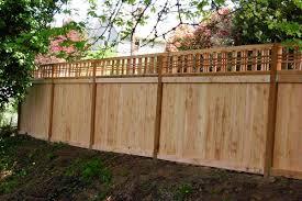 Fence Open Top Wood Fence Design Fence With Lattice Top Lattice Fence