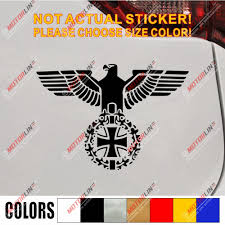 Bundesadler Reichsadler Eagle Iron Cross Decal Sticker Ww2 German Army Pick Size Color Leather Bag